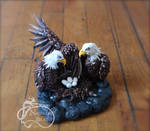 Mommy and Daddy Eagle Sculpture