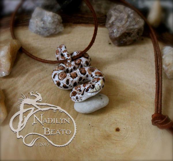 Hognose Pendant by NadilynBeato