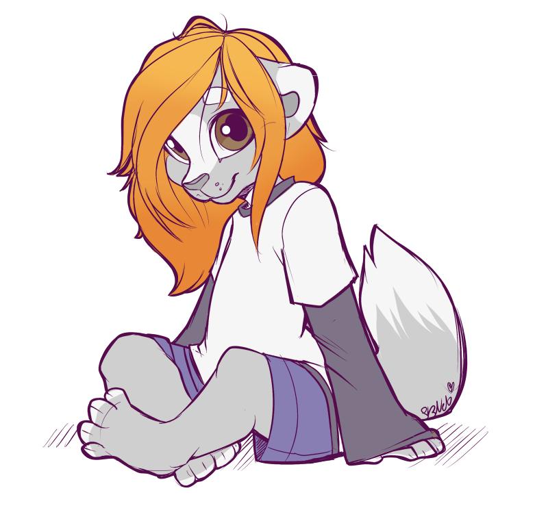 Sitting Neko - Doodle by strawberryneko33
