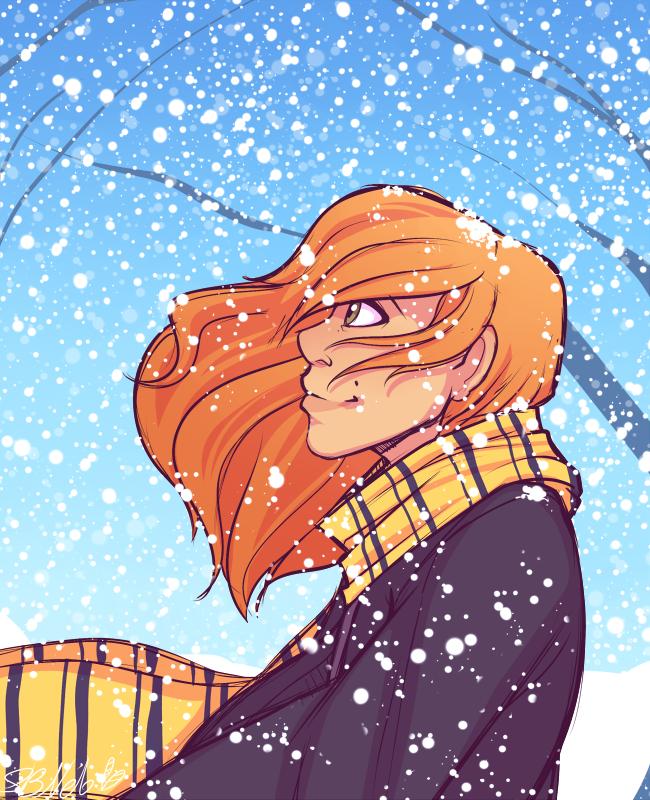 Winter at Hogwarts - Doodle by strawberryneko33