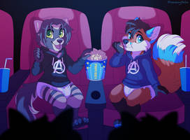 At the Movies - Commission by sbneko