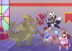 Evil Dragon - Commission by sbneko