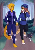 Walk through the woods - Commission by sbneko