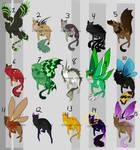 (OPEN) Misc Magic Cats ($15) by OhDeeryMeee