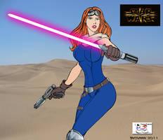 Mara Jade Skywalker - Tatooine by TheSnowman10