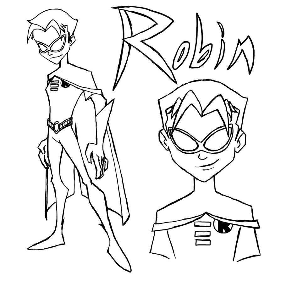 robin and batman coloring pages - the batman robin line art by maygirl96 on deviantart