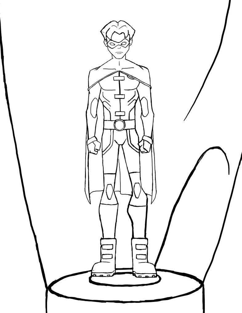 Young Justice Invasion Jason Todd line art by Maygirl96 on ...