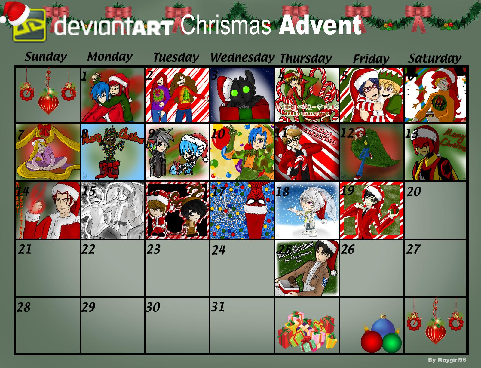 Deviantart Calendar : Deviantart christmas advent calendar by maygirl on