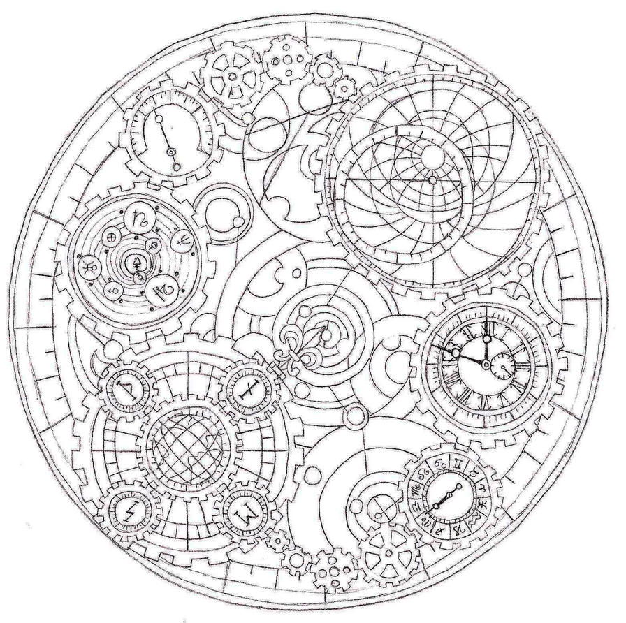 Line Art Universe : Clockwork universe by relmn on deviantart