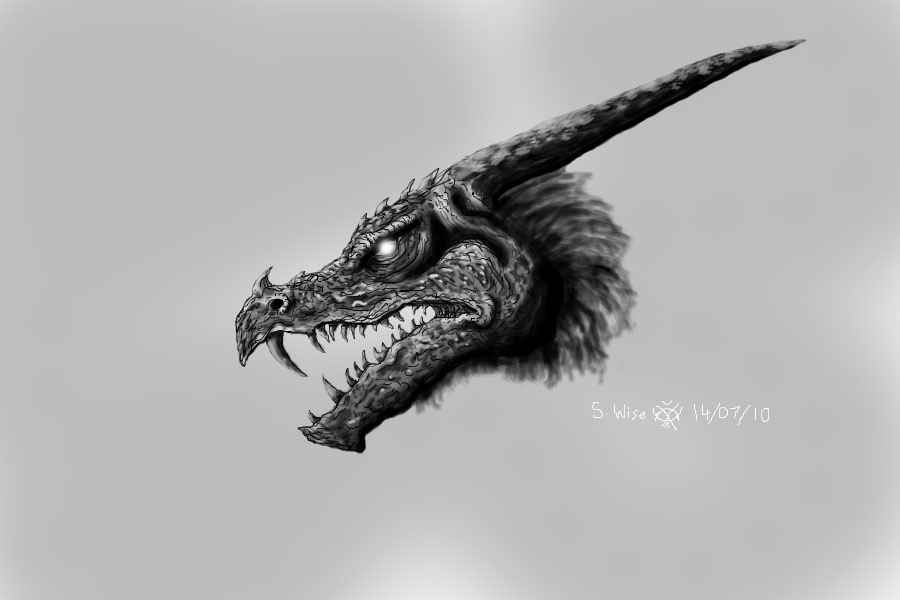 Dragon in Photoshop by Glaiceana