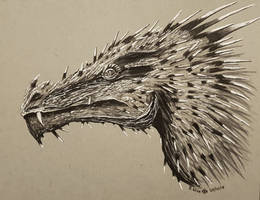 Inktober Day 25 Prickly: Prickly Dragon! by Glaiceana