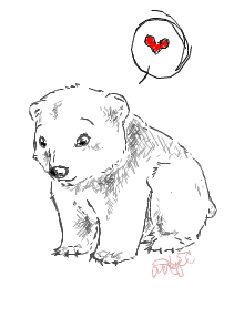 Iscribble Bear Loves You by ArcyEC