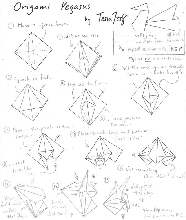 Origami Pegasus Instructions 1 by tessa7338 on DeviantArt