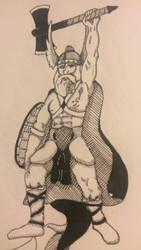 Inktober Viking by 4wayPen