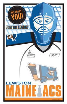 Lewiston MAINEiacs Poster