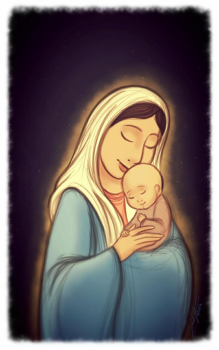 Mary and Jesus by SarahSatrun