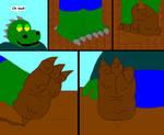 Muddy gator feet
