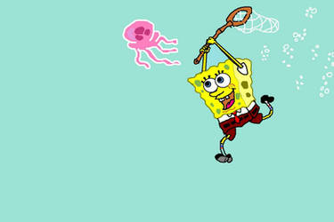 MS Paint: Spongebob Squarepants by MeridaStirling