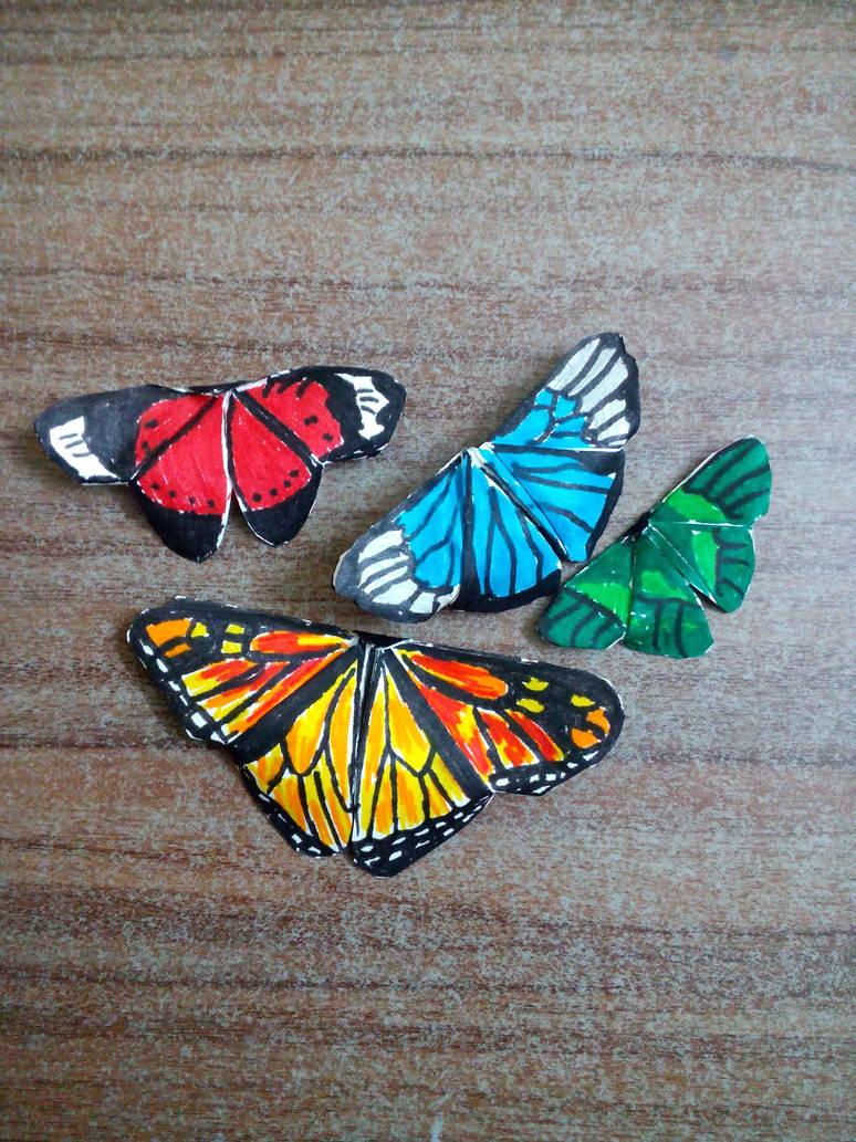 Origami : butterflies by MeridaStirling