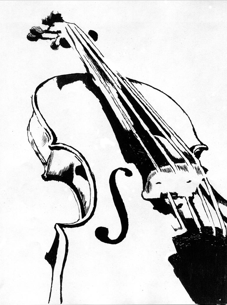 Line Drawing Violin : Violin line drawing images