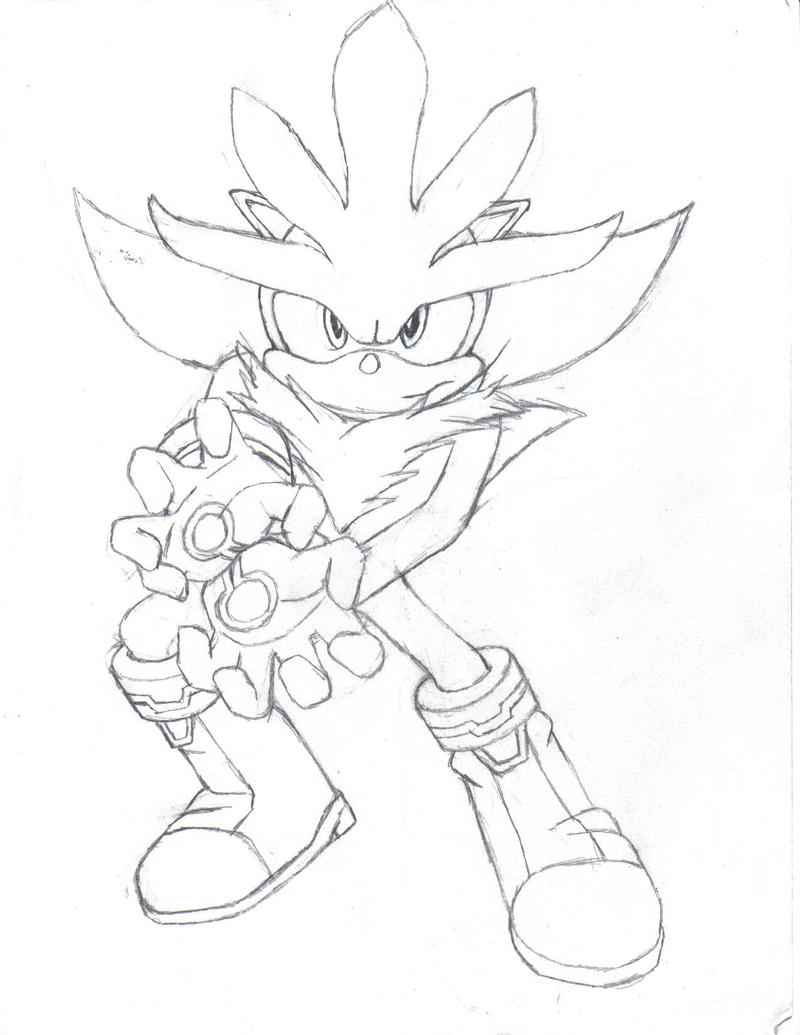 super sonic and super shadow and super silver coloring pages - Classic Super Sonic Coloring Pages