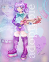 [OPEN] Adoptable auction #1 CyberLolita girl by pipyaoo