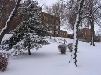 Bede in Snow by kethrynrose