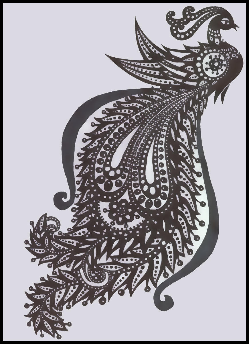 Tribal peacock by candyillusion on deviantart for Peacock tattoo black and white