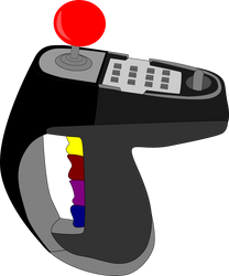 ColecoVision-Superaction-Controller-Vector