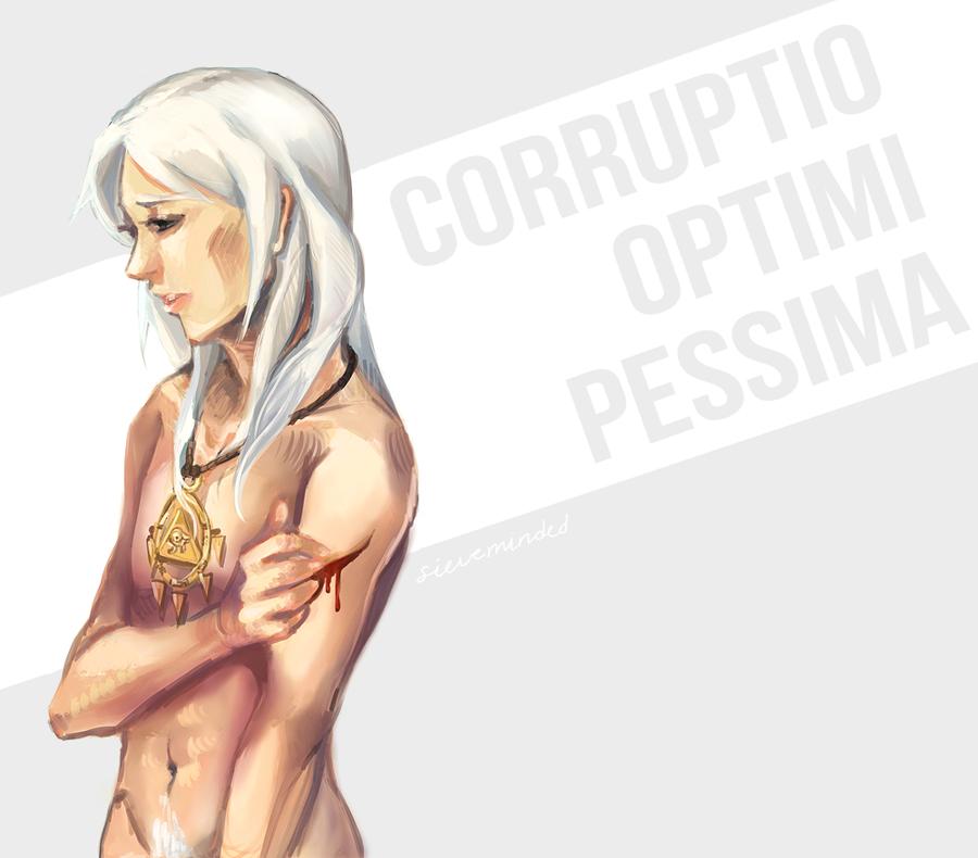 corruptio optimi pessima by Swii