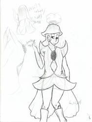 Devils helmet flower outfit