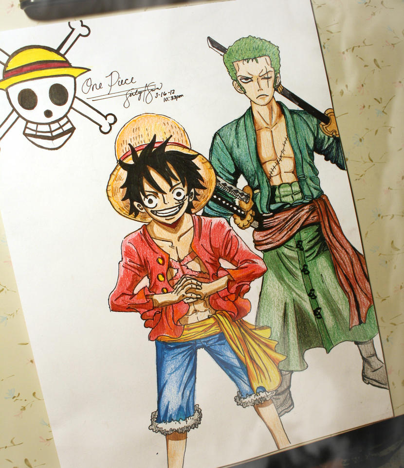 Zoro and Luffy by LynG...