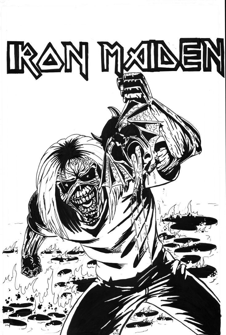 how to draw eddie iron maiden