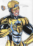 Booster gold commission piece.