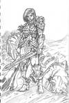 Red Sonja penciled
