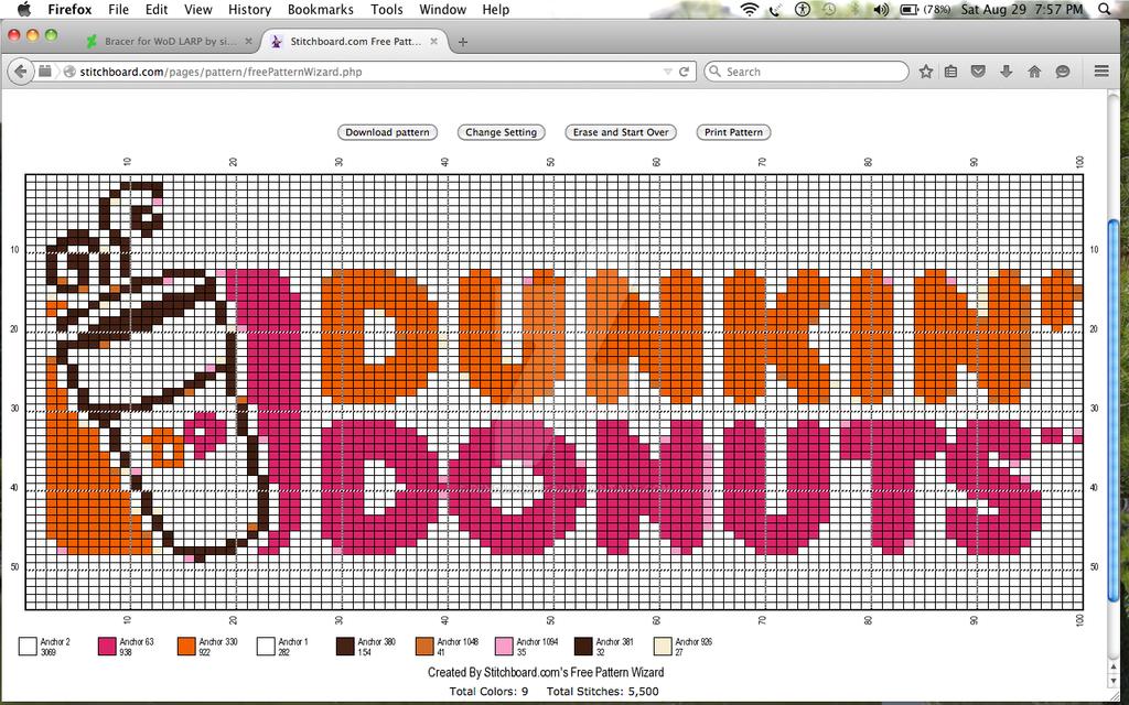 Dunkin Donuts crochet graph! by Penguinnpita