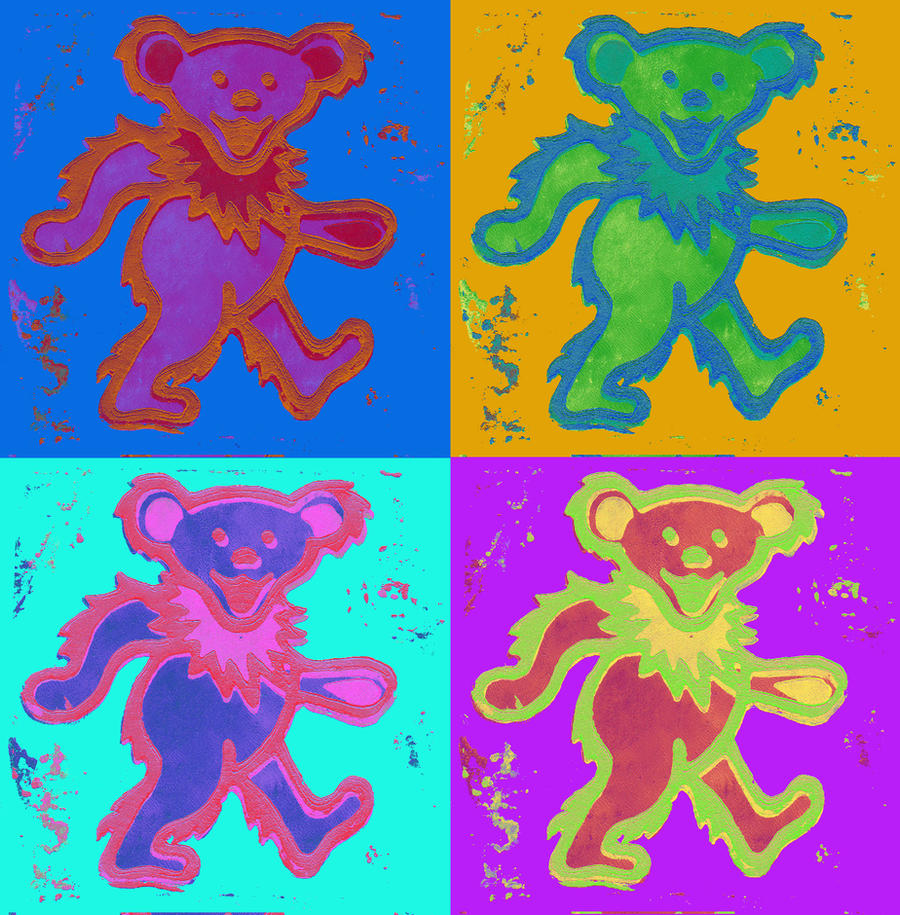 4 more Grateful Dead Bears  by CodyGat on DeviantArt