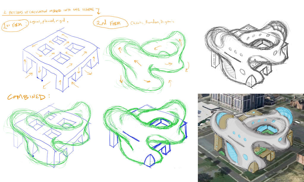 Trans formalism architectural concept sketches by codygat for What is a concept in architecture