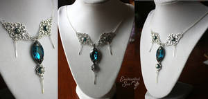 Regal Turquoise Crystal Princess Necklace
