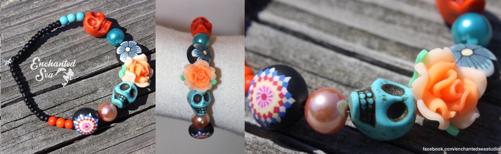 Day of the Dead Bracelet - For Sale by enchantedsea