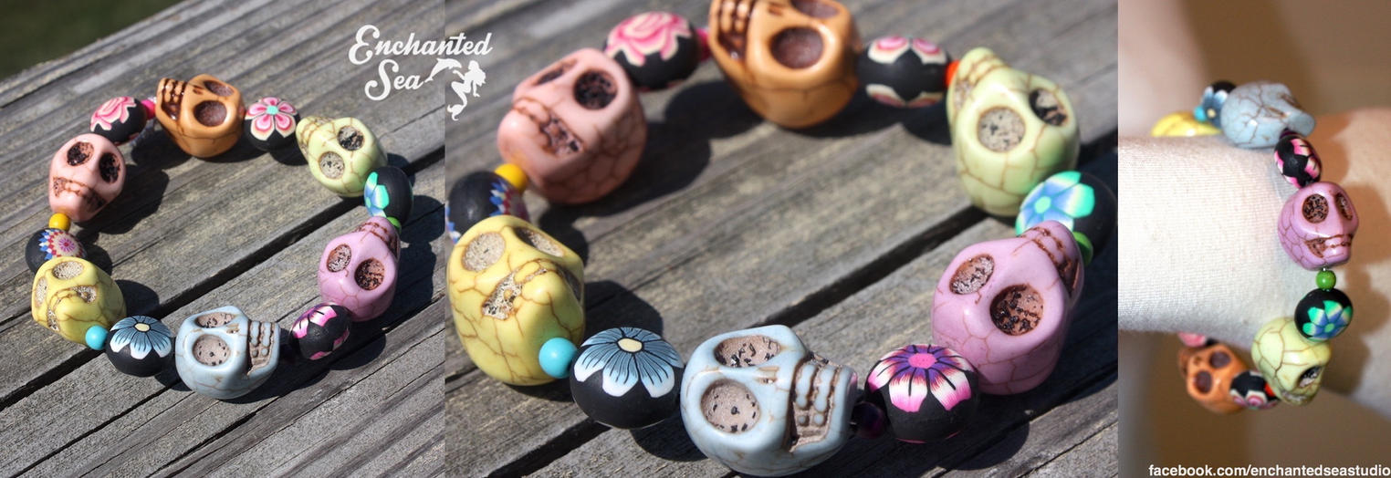 Day of the Dead Bracelet 3 - For Sale by enchantedsea