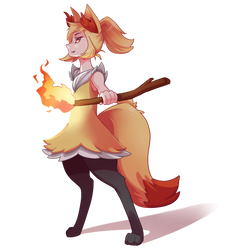 Braixen Gijinka by nanidani