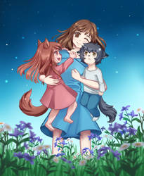 Wolf Children by nanidani