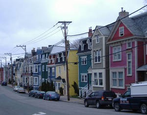 Colorful row houses 5