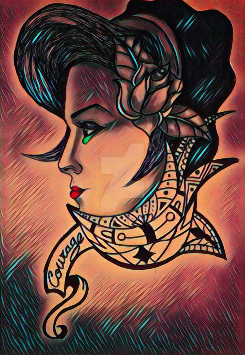Pin Up Tattoo Commission by thatljtaylor on DeviantArt