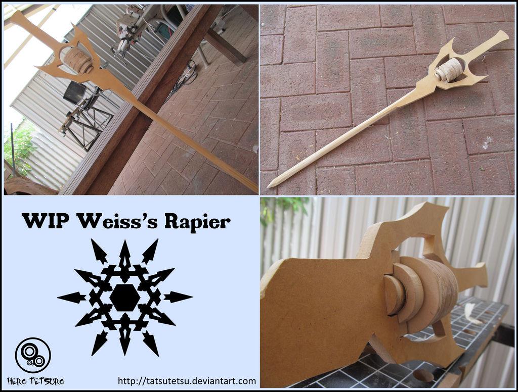 RWBY Weiss's Rapier WIP