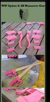 Shingeki no kyojin :3D Manoeuvre Gear WIP Update 2