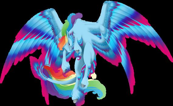 [MLP - DE speedpaint] Death Evolution Rainbow Dash by Oneiria-Fylakas