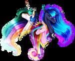 [MLP speedpaint] Headshot Rainbow Power Princesses by Oneiria-Fylakas