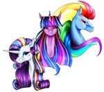 [MLP speedpaint] RP Rarity Rainbow Dash Twilight by Oneiria-Fylakas